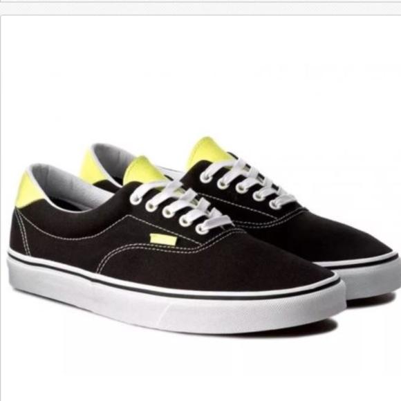 77a13717a0 Vans Era 59 Canvas Leather Black Neon Green. M 5a91d9103a112e99a3ef9126